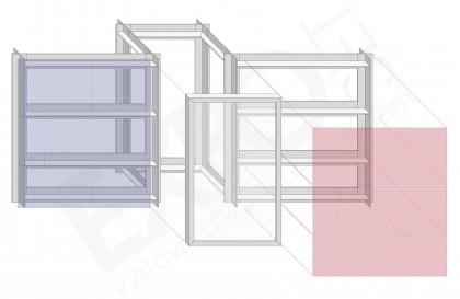 Expo Set - Panelová stěna s vitrínou